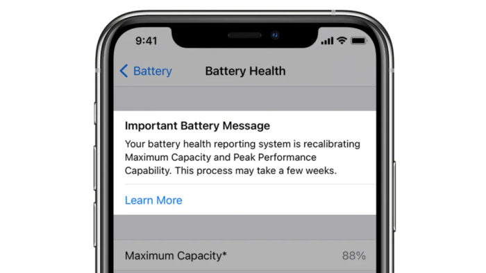 Ferramenta de recalibração da bateria no iOS 14.5 (Imagem: reprodução/9to5Mac)