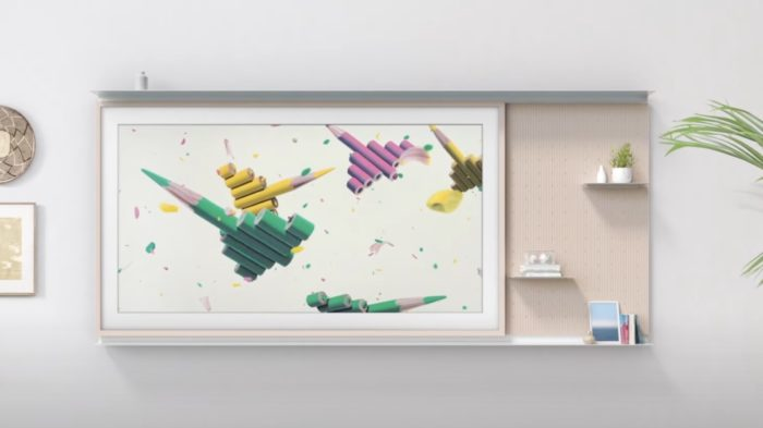 Samsung The Frame 2021 com My Shelf (Imagem: Reprodução/Samsung)
