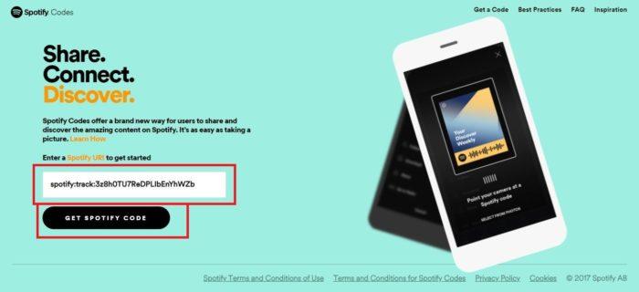 É possível baixar o código em alta resolução através de um site (Imagem: Reprodução / Spotify)