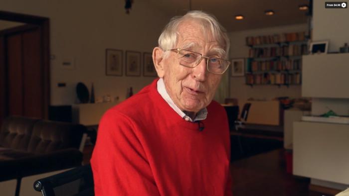 Lou Ottens, inventor da fita cassete, no documentário Cassette: A Documentary Mixtape