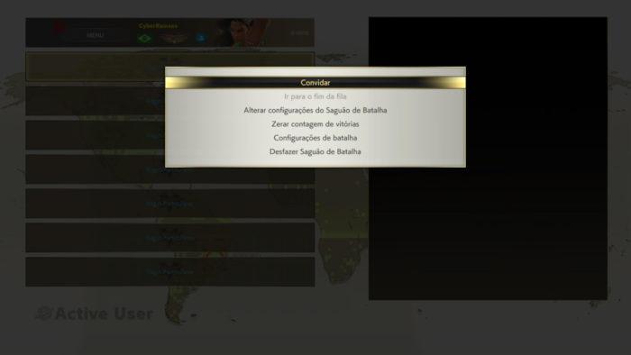 Convidando amigos para o Saguão de Batalha em Street Fighter V (Imagem: Reprodução/Capcom)