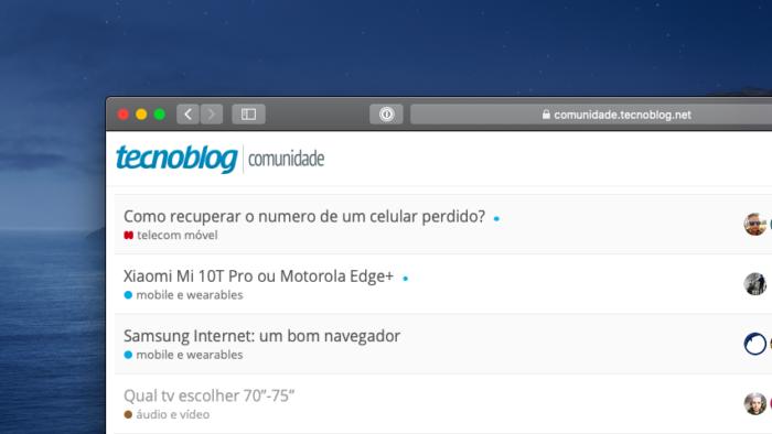 TB Comunidade #59: iPhone XR e XS, TVs, WhatsApp fora do ar e mais (Imagem: Tecnoblog)