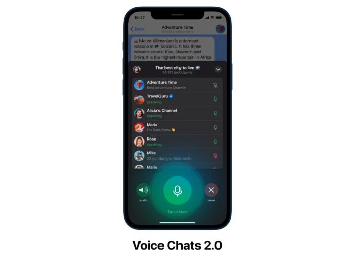 Chats de voz do Telegram (Imagem: Divulgação/Telegram)