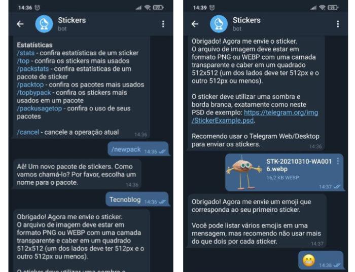 Como transferir figurinhas do WhatsApp para o Telegram / Reprodução / Telegram