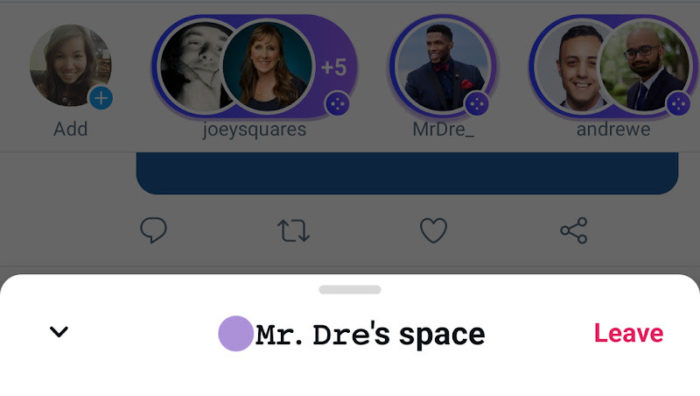 Twitter Spaces no Android (imagem: divulgação/Twitter)