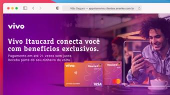 Vivo Itaucard é um cartão de crédito com cashback que permite zerar anuidade