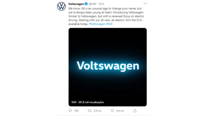 Perfil oficial da VW no Twitter contribuiu para pegadinha de 1º de abril