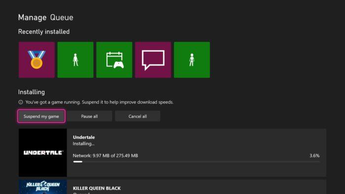 Botão de suspender jogos em testes no Xbox Series X (Imagem: Divulgação/Xbox)