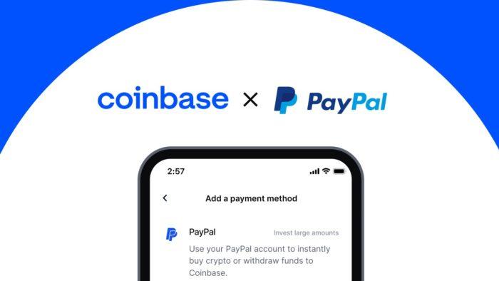 Usuários americanos podem agora usar contas do PayPal para comprar criptomoedas na Coinbase (Imagem: Divulgação/Coinbase)