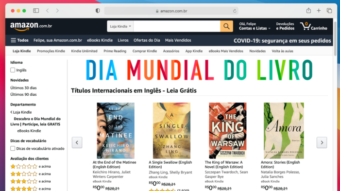 Amazon oferece 10 e-books grátis no Brasil em Dia Mundial do Livro