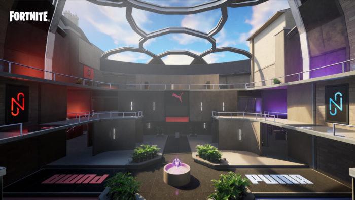 Mapa da Arena Loucura Total, em Fortnite (Imagem: Divulgação/Epic Games)