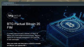 BTG Pactual lança fundo de bitcoin com investimento a partir de R$ 1