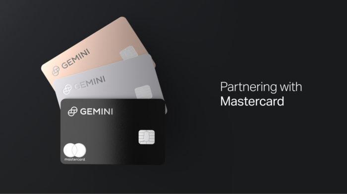 Mastercard e Gemini se unem para lançar cartão de crédito com sistema de recompensas em criptomoedas (Imagem: Divulgação/Gemini)