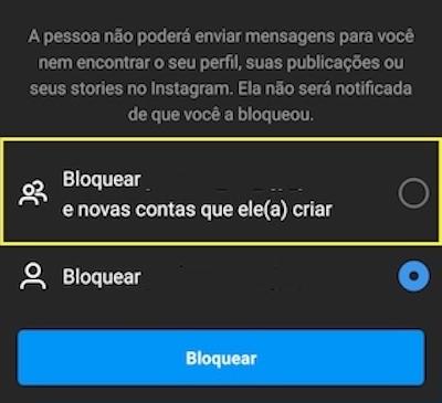 Bloqueio no Instagram considera contas futura (Imagem: Reprodução/Instagram)
