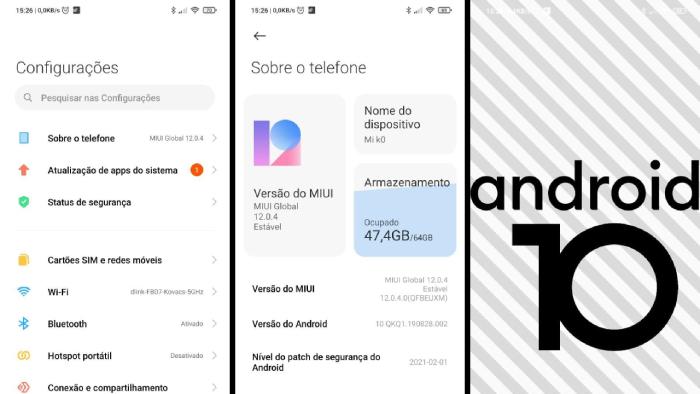 Verificando especificações da versão Android (Imagem: Leandro Kovacs/Reprodução)