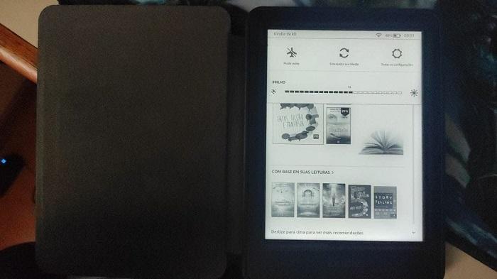 Como colocar um livro como descanso de tela no Kindle (Imagem: Leandro Kovacs/Tecnoblog))