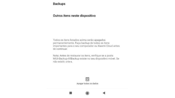 """Voltar as configurações de fábrica """"zera"""" o celular (Imagem: Leandro Kovacs/Reprodução)"""