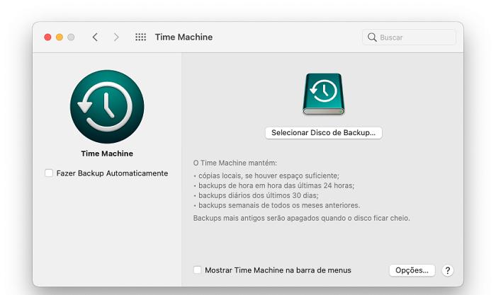 Como fazer backup do Mac em vários discos no Time Machine (Imagem: Lucas Lima/Reprodução)