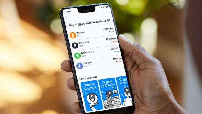 Carteira digital Venmo, do PayPal, lança negociações de criptomoedas através de seu aplicativo (Imagem: Divulgação/Venmo)
