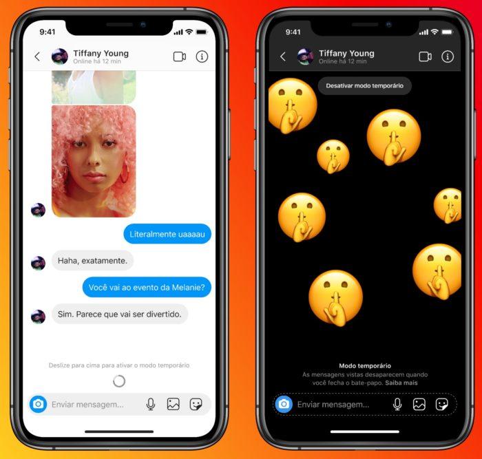 Modo temporário apaga mensagens no Instagram e Messenger (Imagem: Divulgação)