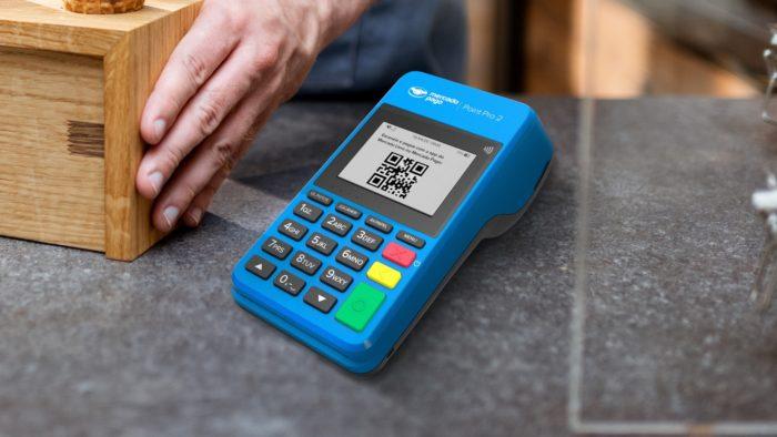 Máquina de cartão do Mercado Pago (Imagem: Divulgação)