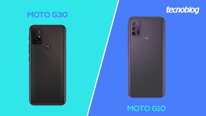 Moto G30 vs Moto G10 (Imagem: Vitor Pádua/Tecnoblog)