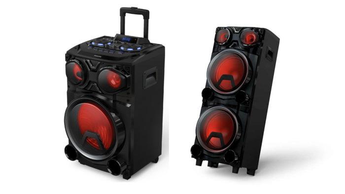 Philips X3305 e X3705 são caixas de som grandes com Bluetooth e luzes LED (Imagem: Divulgação/Philips)