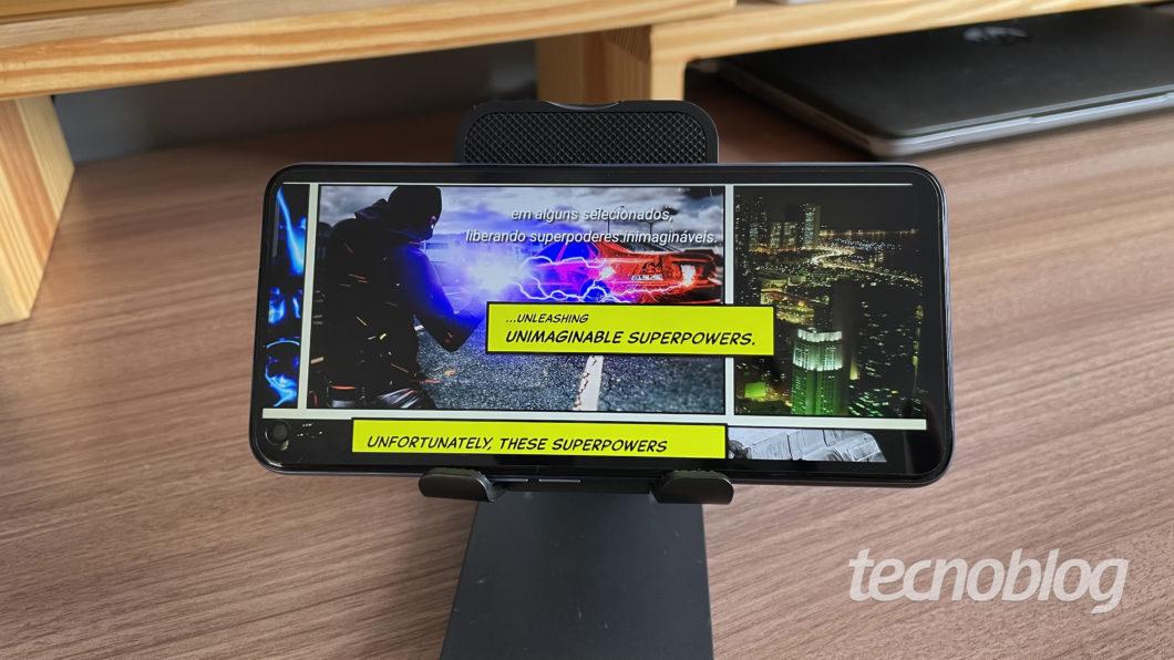 Realme 7 5G (Image: Darlan Helder / Tecnoblog)