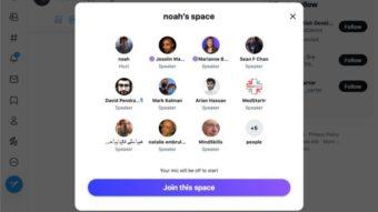 Twitter Spaces terá salas de áudio na versão web