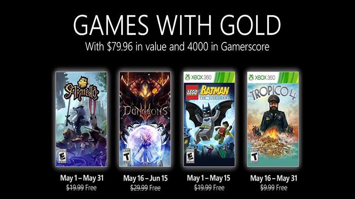 Xbox Live Gold maio 2021
