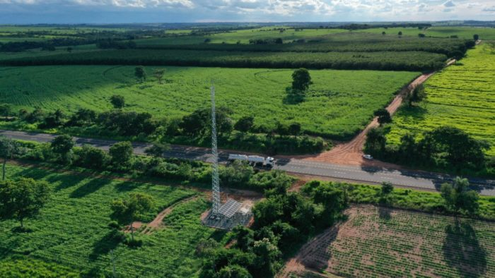 TIM antenna covers stretch of road in General Salgado/SP (Image: Reproduction/TIM)