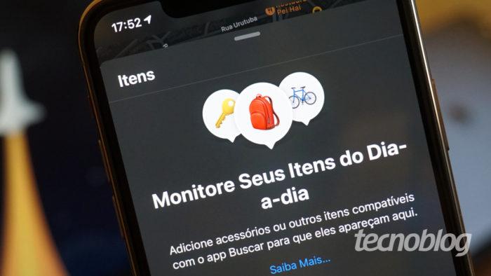 App Buscar no iPhone (Imagem: André Fogaça/Tecnoblog)