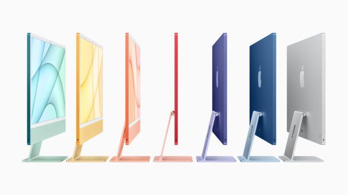 Novo iMac com chip M1 e várias cores (imagem: divulgação/Apple)