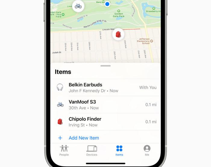 Acessórios de terceiros no <a href='https://meuspy.com'>app</a> Buscar (Imagem: divulgação/Apple)