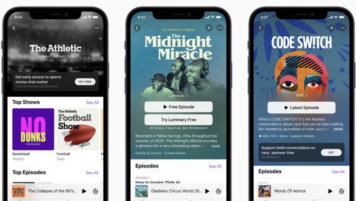 Apple Podcasts com assinatura (Imagem: divulgação/Apple)