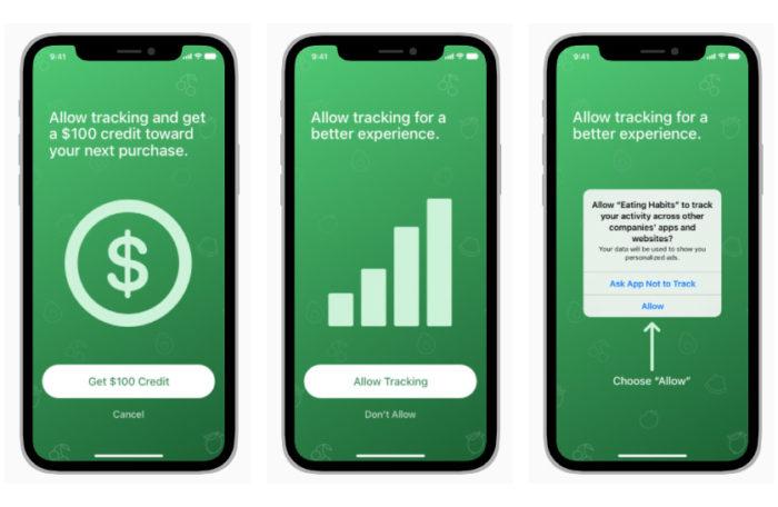 Apps não podem oferecer incentivos ou exibir itens que confundam usuários (Imagem: Reprodução/Apple)