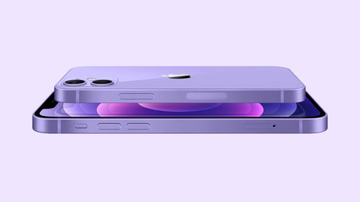 iPhone 12 roxo: mesmo smartphone, nova cor (Imagem: Reprodução/Apple)