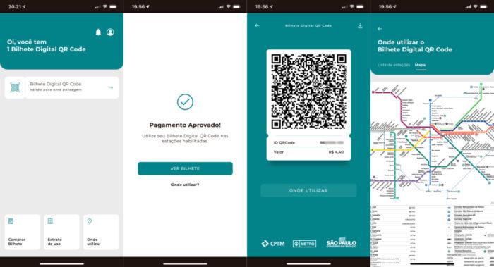 Bilhete Digital QR Code (Imagem: reprodução)