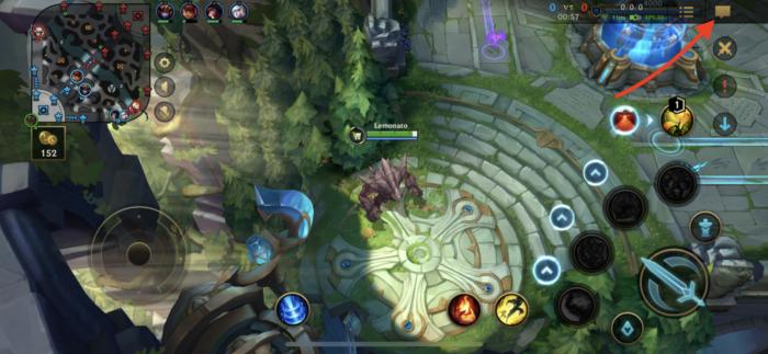 botão de chat em Wild Rift (Imagem: Reprodução/Riot Games)