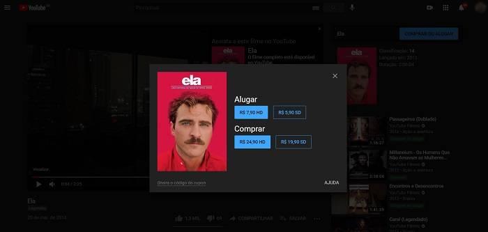 Como alugar ou comprar um filme no YouTube / YouTube / Reprodução