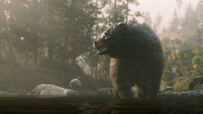 Existem vários animais lendários em Red Dead Redempion 2 (Imagem: Reprodução/Rockstar Games)
