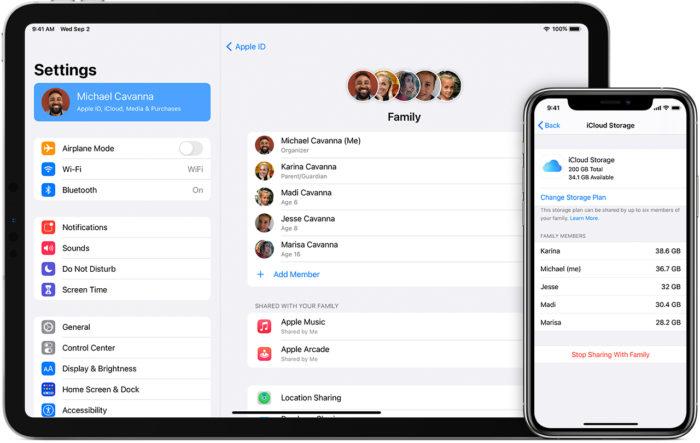 Configurar o compartilhamento no iOS (Imagem: Divulgação/Apple)