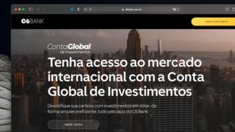 C6 Bank lança nova conta global para investir fora do Brasil
