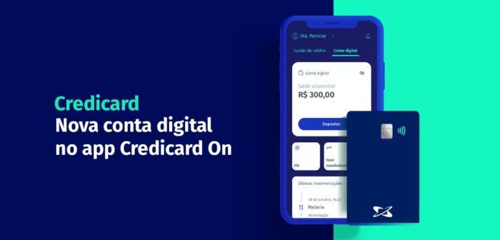 Credicard lança conta digital gratuita (Imagem: Divulgação/Credicard)