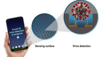 Sensor para celulares detecta vírus da COVID-19 em superfícies