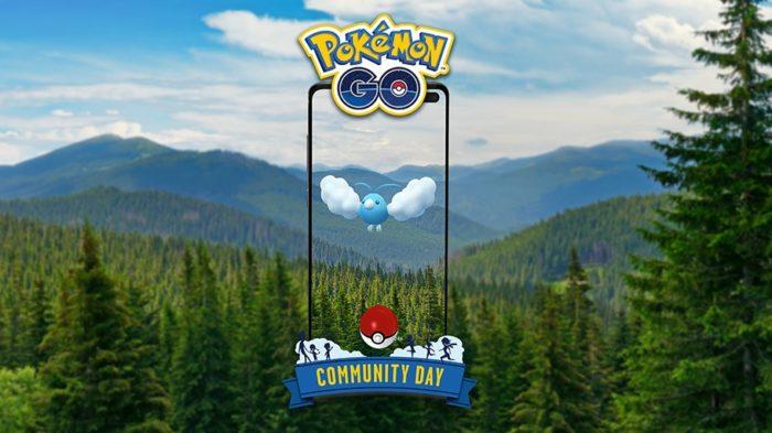 Swablu é o pokémon no Dia Comunitário de Pokémon Go em maio (Imagem: Divulgação/Niantic)