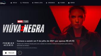 Viúva Negra e Cruella chegarão ao Brasil via Disney+ com custo adicional