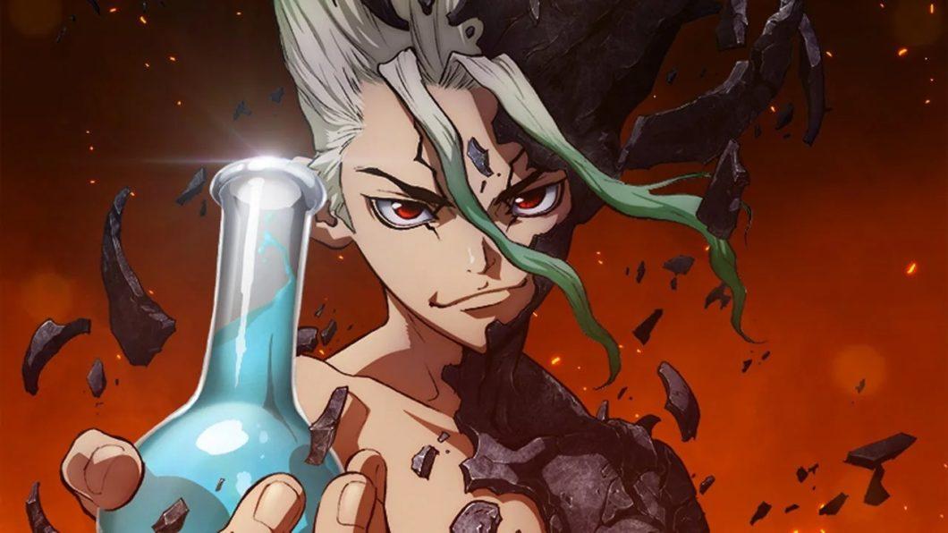 Animes como Dr. Stone estreiam em estações do ano (Imagem: Divulgação/TMS)
