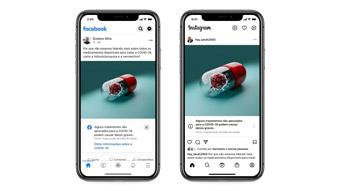 Facebook e Instagram alertam sobre tratamentos sem comprovação contra COVID-19