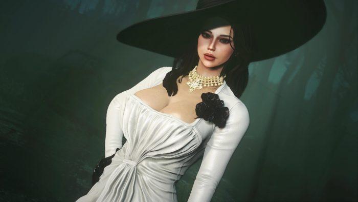 Lady Dimitrescu está em Resident Evil e agora em Fallout 4 também (Imagem: Reprodução)